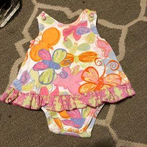 baby lulu Bottoms - Baby lulu 6m sunsuit bodysuit skirted